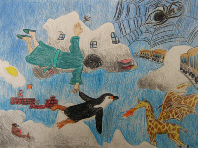 'Flight with Penguin' - Nihal age 14