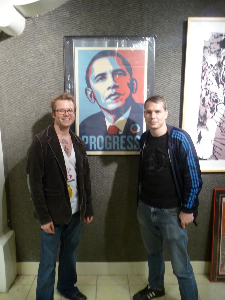 Seth Carmichael with Shepard Fairey