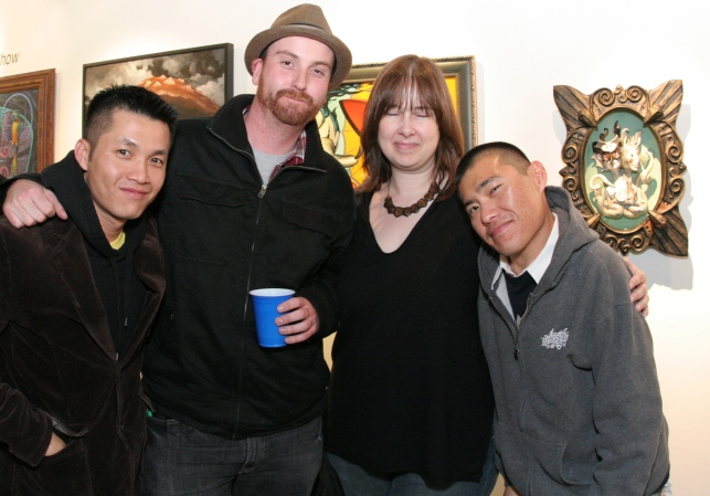 Jon Todd and Edwin Ushiro with friends