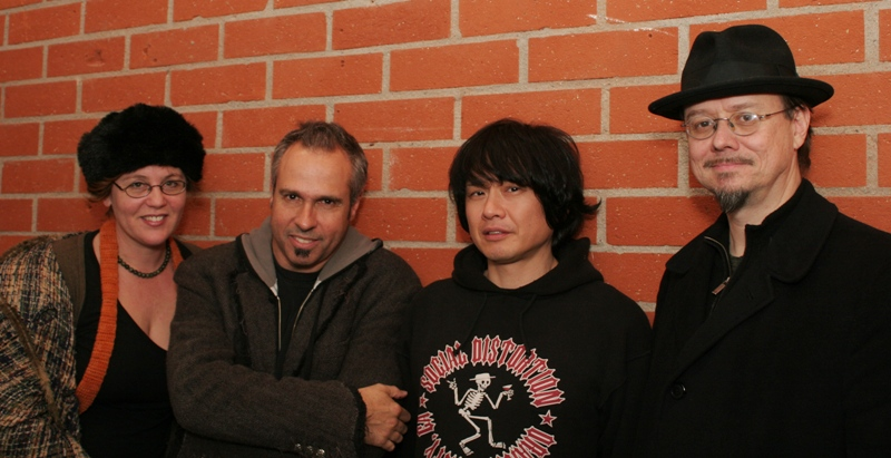 Marion Peck, Gary Baseman, Yoshitomo Nara, and Mark Ryden (L-R)