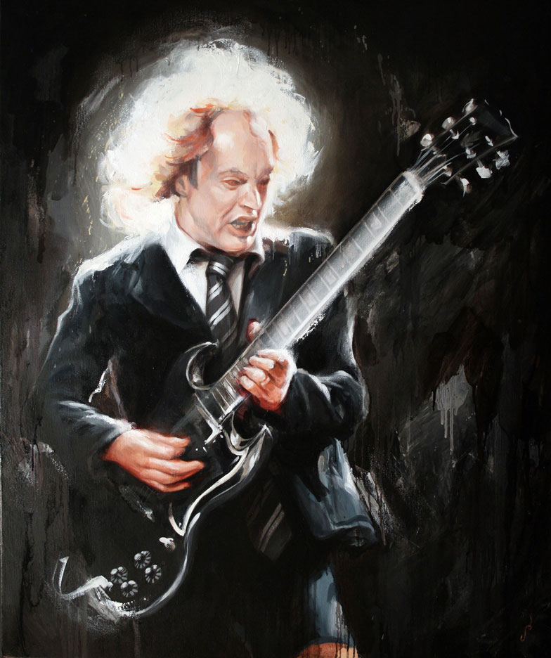 Angus Young (AC/DC) by Shawn Barber