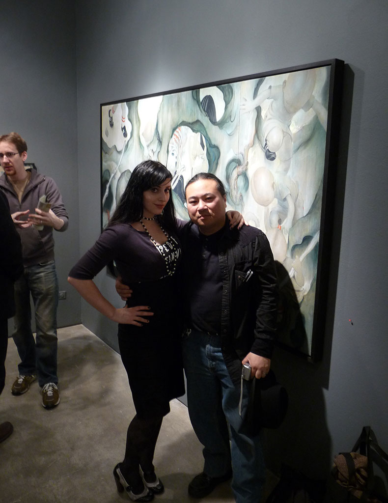 Molly Crabapple and Travis Louie