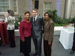 Shepard w/Elsie Scott (CEO of CBCF) & Congress woman Barbara Lee