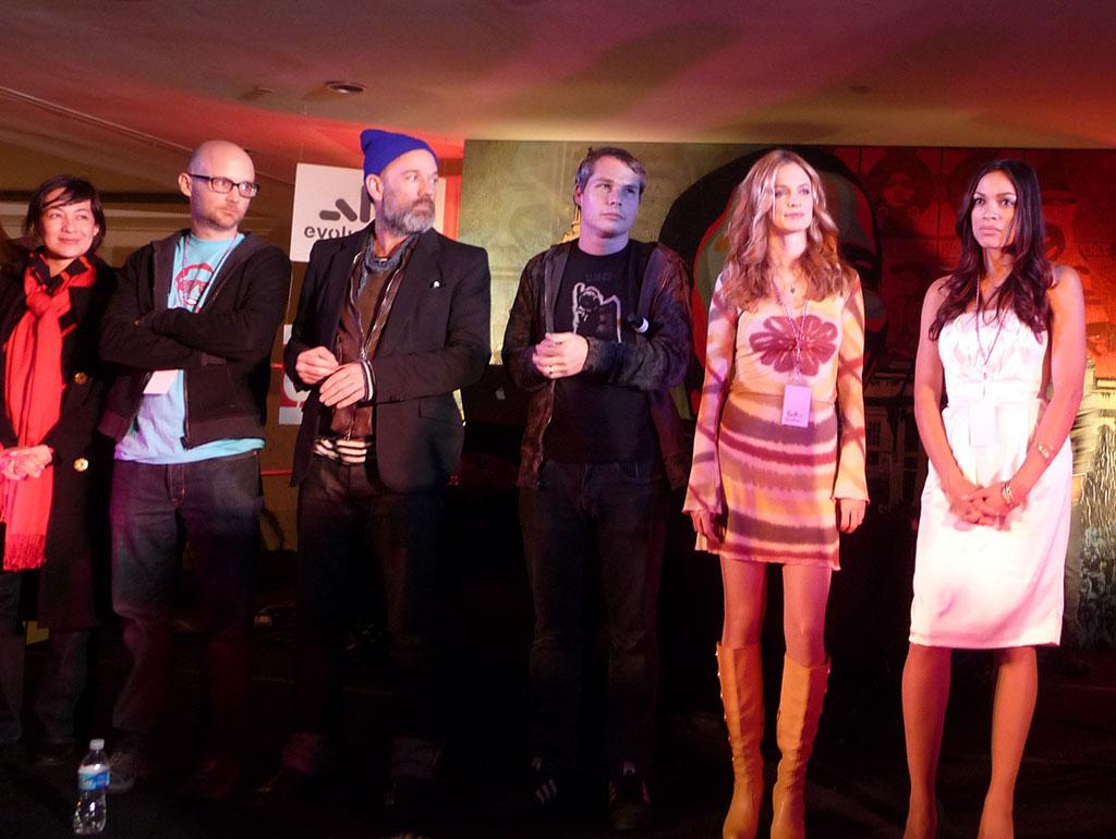 Moby, Michael Stipe, Heather Graham, Rosario Dawson w/ Shepard & Amanda Fairey