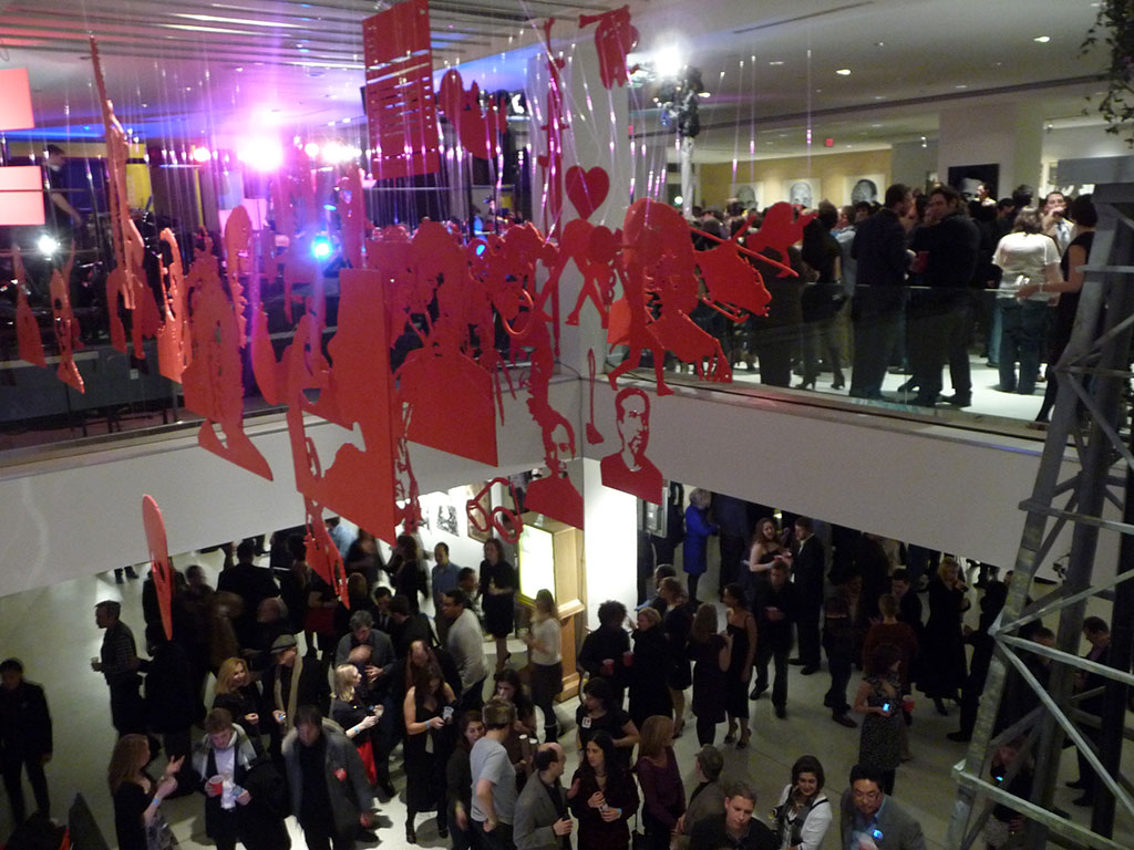 Both levels of the gallery was packed to the brim