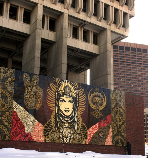 Peace Goddess unveiled at Boston City Hall