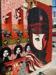 Mujer Fatale Mural: At Lance Armstrongs Bike Shop