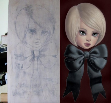 Beginning Sketch --> Final Painting