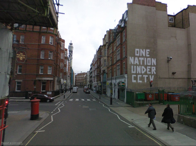 Google Maps United Kingdom Street Art View Arrested Motion