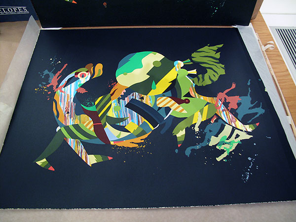35-color silkscreen print