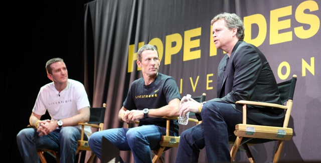 Doug Ulman, Lance Armstrong, Mark Park (L-R)