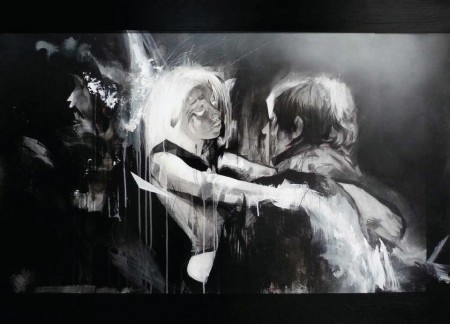 A Girl Melts At A Party (This Scene Is Romantic) - 36x50