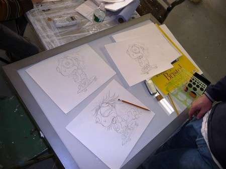 Ron is drawing his animation BY HAND!!!