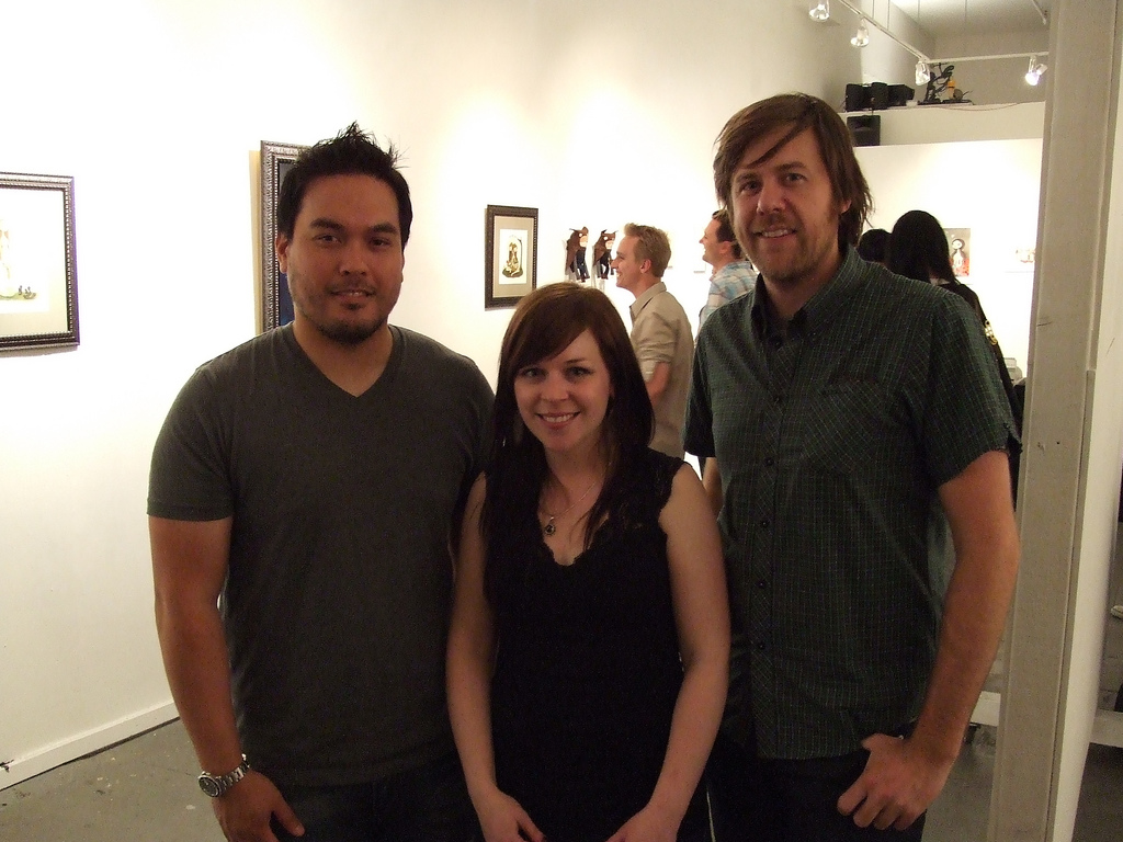 L --> R: Roland Tamayo, Krista Huot, Scott Campbell