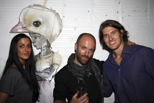 Herakut with one of the curators - Nicholas