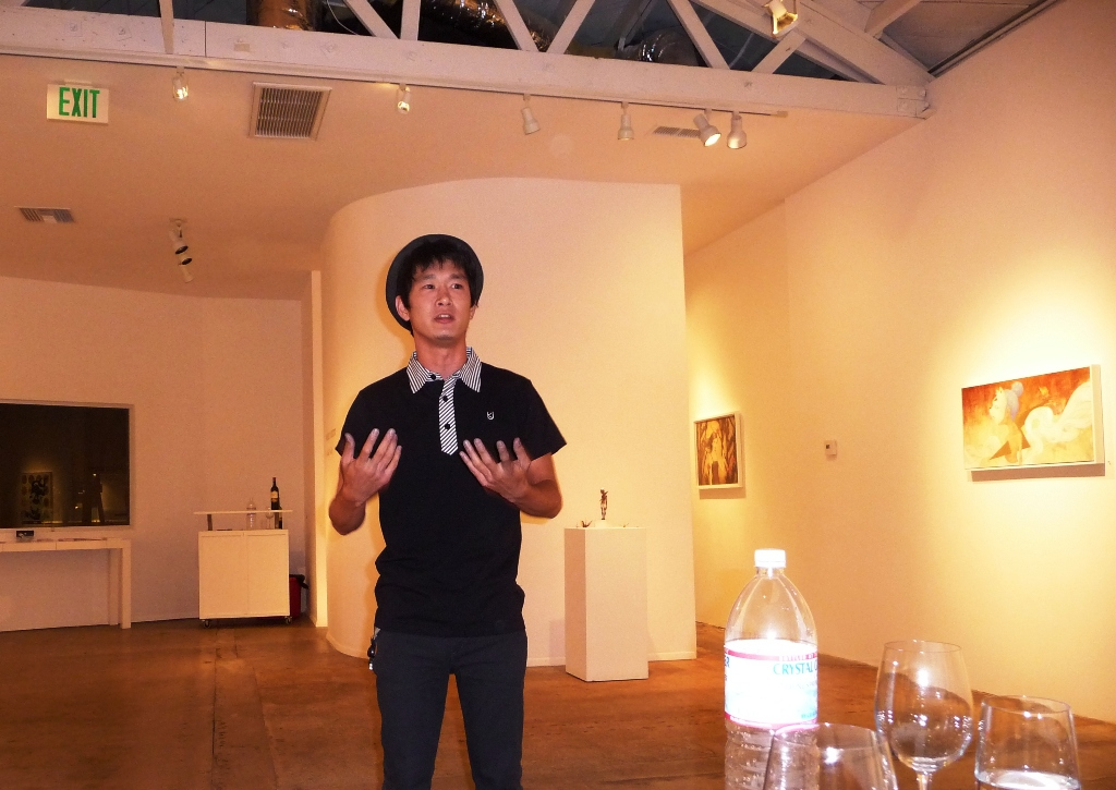Yoskay giving an overview of his show