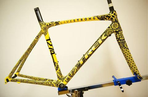 Close Up Lance Armstrong S Stages Trek Art Bikes