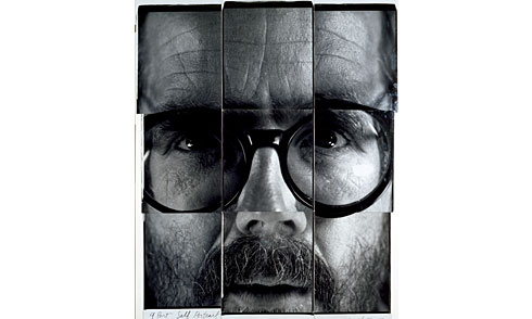 Photo by Chuck Close.  Image via Art & Antiques.