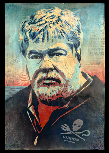 Paul Watson donated by Shepard Fairey