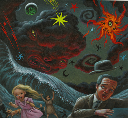 "Mark Ryden 'End Of The World' (1997) / 11x10"" / Acrylic on board"
