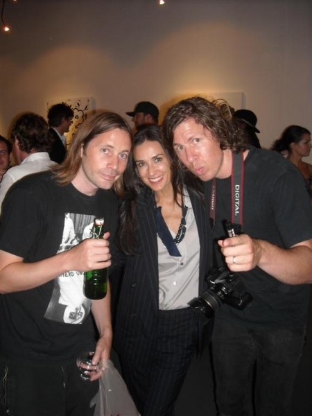 Demi Moore with Chaz and Bob of The London Police