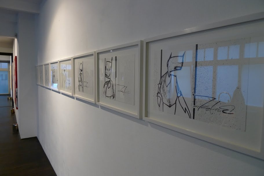 Row of Pointman Drawings