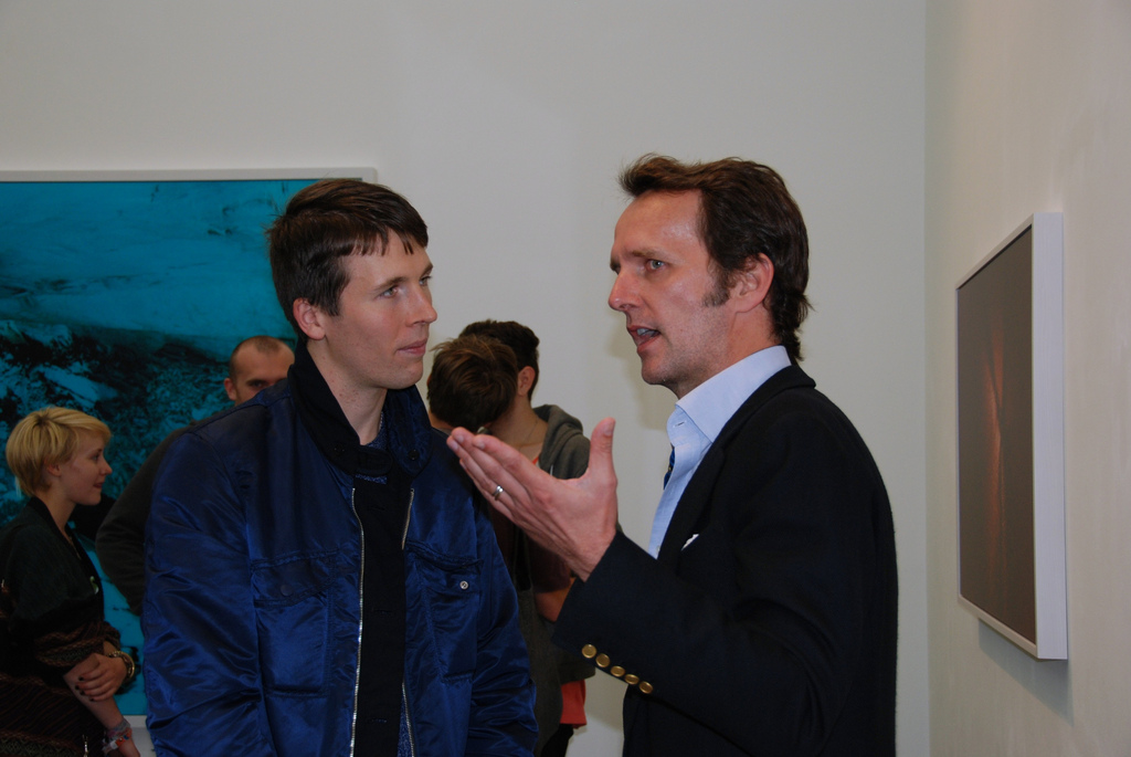 McGinley, having a chat with Sotheby`s Tobias Meyer