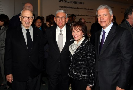 Eli Broad, #7 on list (2nd from left - foreground) and Larry Gagosian, #5 (right - foreground) - Photo by Andrew H. Walker/Getty Images North America
