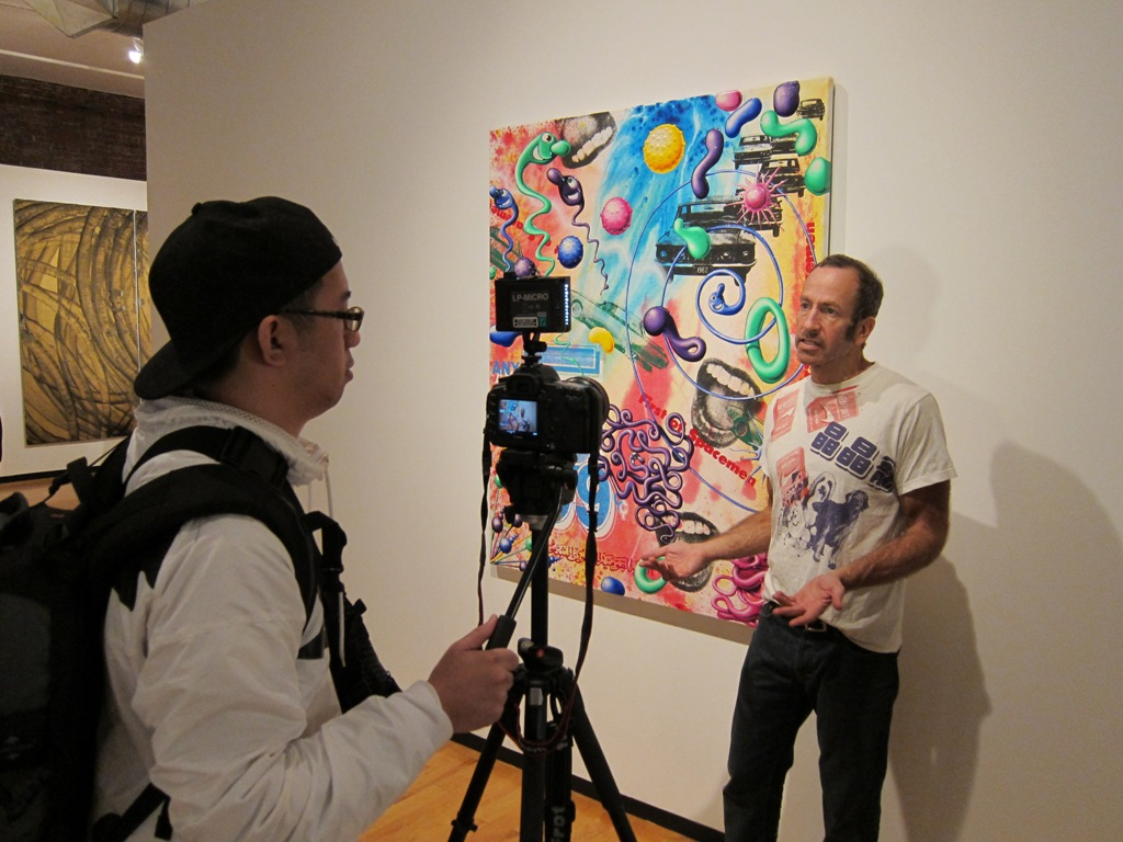 Kenny Scharf interviewing w/Poe (Freshness)
