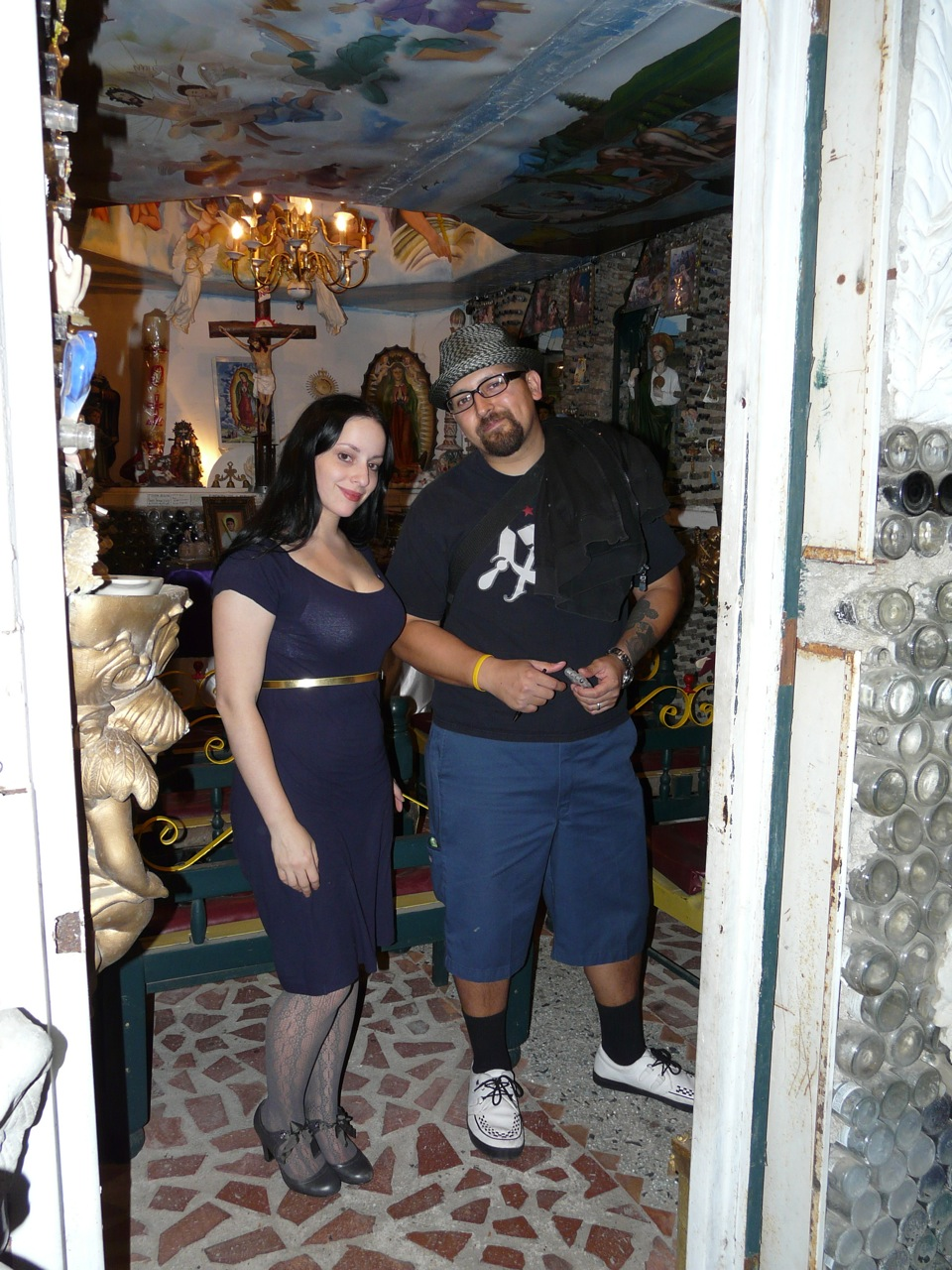 Molly Crabapple, KMNDZ in weird shrine/church