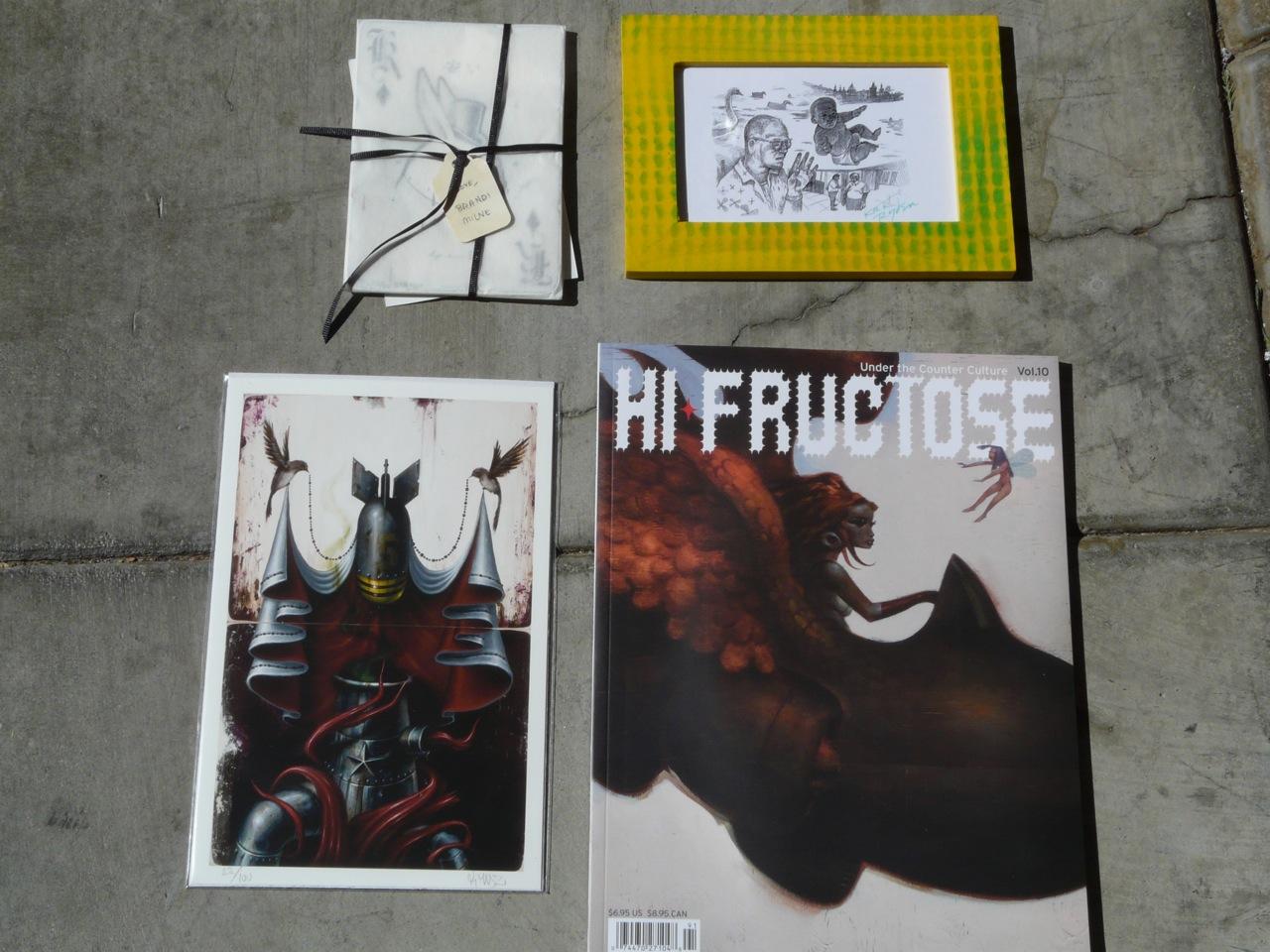 KRK Ryden print, Hi Fructose mag, KMNDZ print, Brandi Milne set