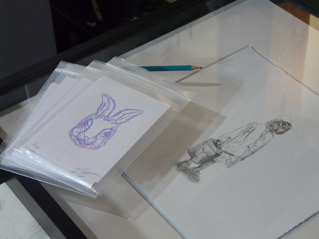 Drawing and gocco print