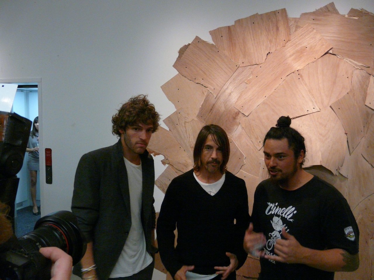 PC Valmorbida (Co-owner of Prism), Anthony Kiedis (Red Hot Chili Peppers), PM Tenore of RVCA (Curator)