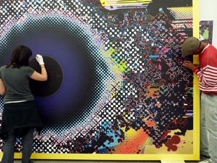 Takashi Murakami at Emmanuel Perrotin. Image via Slamxhype.