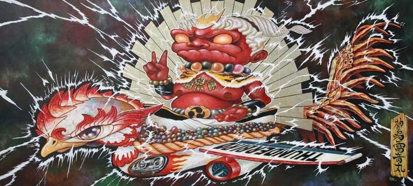 yosuke-ueno-the-god-of-thunderbolt-315-x-715-acrylic-gold-leaf