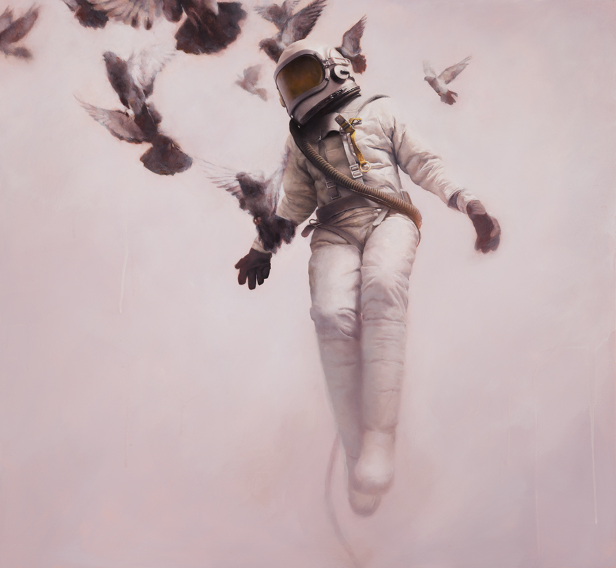 White Cosmonaut - 21 x 23 inches - giclees - editions of 200 - $190 AUD