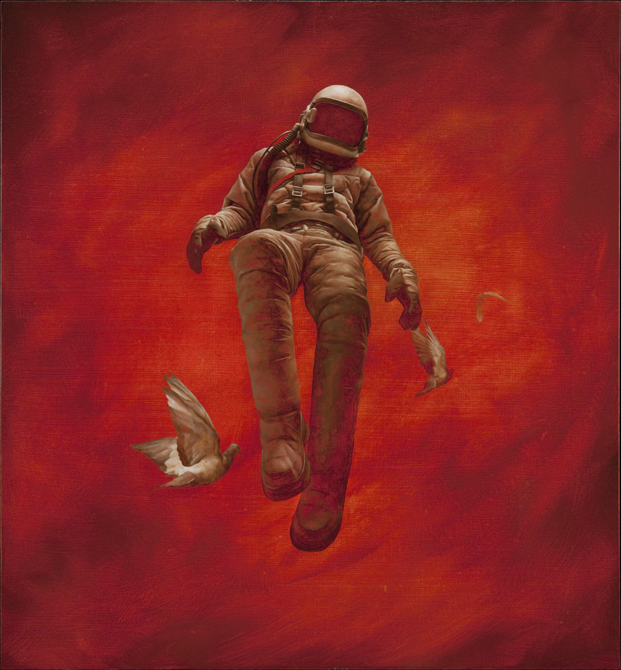 Red Cosmonaut - 21 x 23 inches - giclees - editions of 200 - $190 AUD
