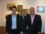 Glenn Barr flanked by Scott Kaserman and Matthew Abramowitz of The 4th Wall Gallery