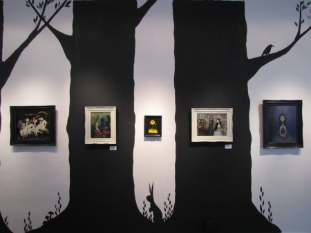 Gallery 1988SF painted to look like a storybook forest