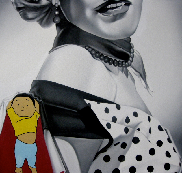 "Jason Bryant, Dune, Oil on canvas, 24"" x 24"", 2009."