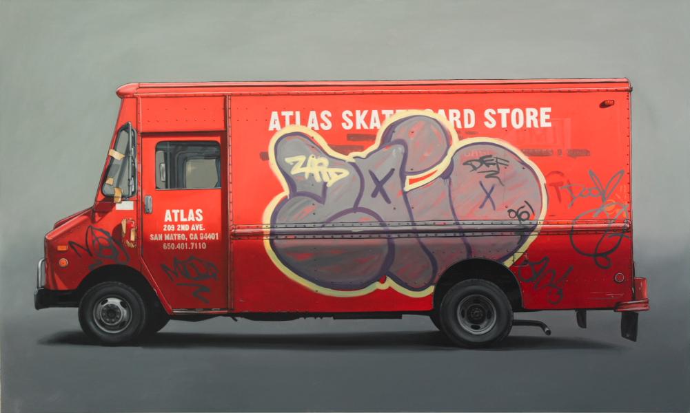 Kevin Cyr, Motzek, 36 x 60 inch, Oil on panel, 2009.