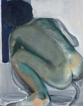 Lot 119 - Marlene Dumas - The Peeping Tom - 1994 - oil on canvas - 23 x 19in (59.7 x 49.6cm) - £140,000 - £180,000