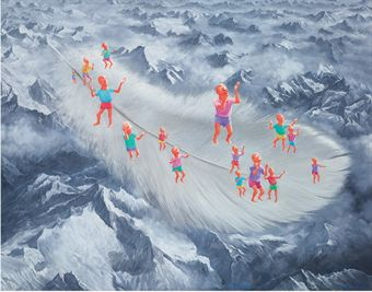 Lot 255 - Fang Lijun - Untitled - 2006 - oil on canvas - 54 5/8 X 70 7/8in (139 X 180cm) - est. £100,000 - £150,000