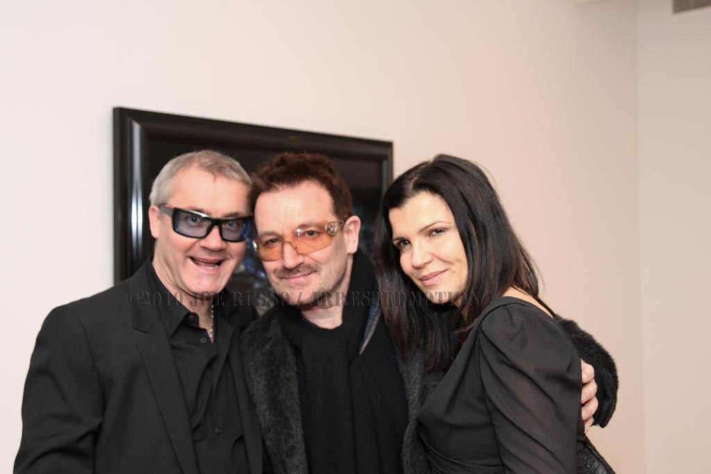 Damien, Bono and wifey