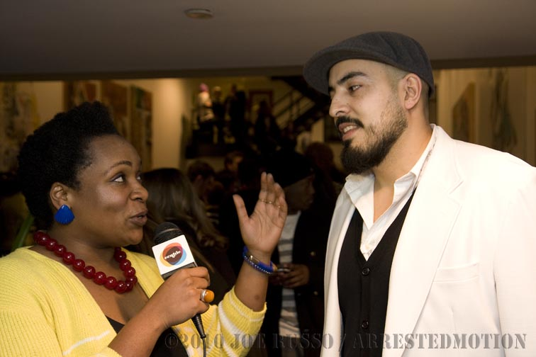 Gabriel interviewing on camera