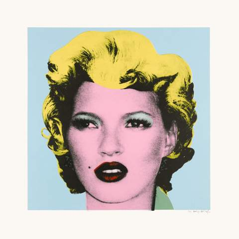 Banksy, Kate Moss (2005), screenprint on paper, 27 1/2 x 27 1/2 in (70 x 70cm). Est. 25,000-35,000 GBP