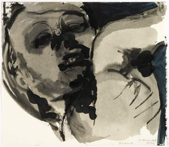 Marlene Dumas, Jesus (2004), ink and watercolour on paper, 9 1/2 by 11in (24.1 by 28cm). Est. 8,000-12,000 GBP