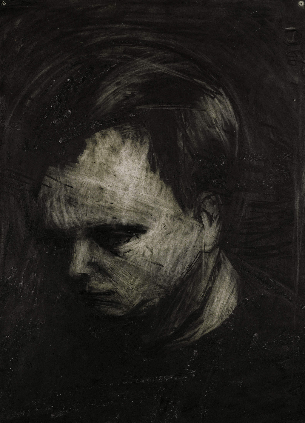 Frank Auerbach (1962), charcoal and chalk on paper, 30 x 22in (76 x 56cm). Est. 60,000-80,000 GBP