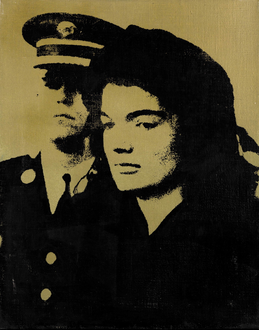 Andy Warhol, Jackie (1964), acrylic and silkscreen ink on canvas, 20 by 16in (50.8 by 40.7cm). Est. 800,000-1,200,000 GBP