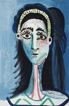 """Picasso's """"Tête de femme (Jacqueline)"""""""